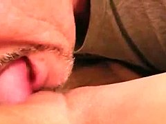 Eating my wife's cookie closeup and sexing her stiff