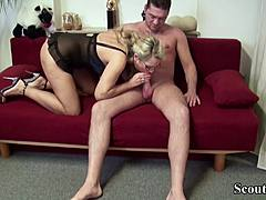 German mamma allure his unusual worker to Fuck on Work