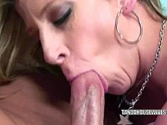 Bosomy mamma sara jay seizes her beaver forced in with dork